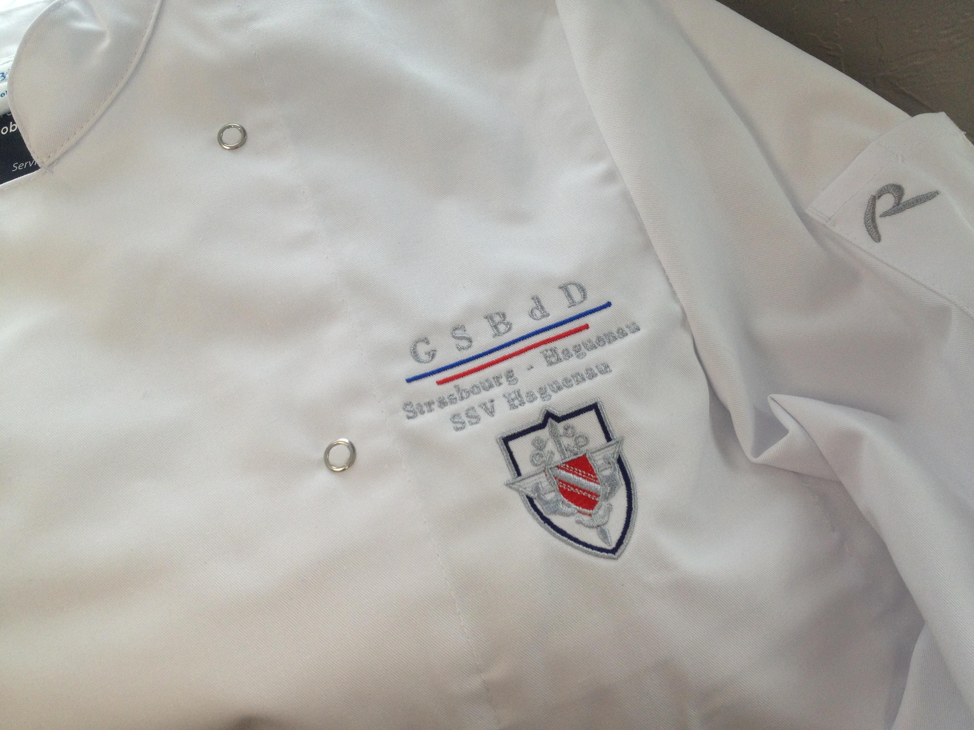 Vestes De Cuisine Brodée JL Broderie Sublimation à Haguenau - Broderie veste de cuisine